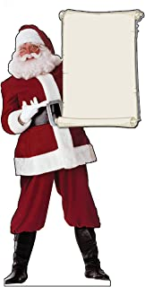 Advanced Graphics Santa Claus with Scroll Life Size Cardboard Cutout Standup