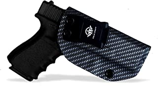 Kydex IWB Holster Carbon Fiber Weaving Pattern Fit Glock 19 19X 23 25 32 Glock 17 22 31 Glock 43 43X Glock 26 27 33 Pistol Case Waistband Carry Concealed Holster - Point Touching - No Wear - No Jitter