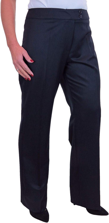 icecoolfashion Damen Business Office Anzug Jacke Und Hose Mit Weitem Bein 40-48