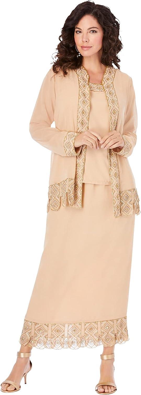 Roamans Women's Sale price Fees free Plus Size Set 3-Piece Skirt