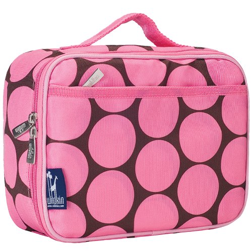 Wildkin Kids Insulated Lunch Box Bag for Boys and Girls, Perfect Size for Packing Hot or Cold Snacks for School & Travel, Measures 9.75 x 7.5 x 3.25 Inches, Mom's Choice Award Winner (Big Dot Pink)