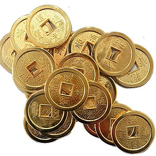 Lot de 50 pièces de monnaie chinoises Fortune Feng Shui-monn