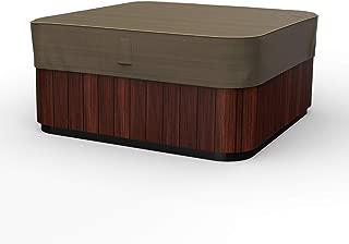 Budge P9A17BTNW3 NeverWet Hillside 庭院热水浴缸罩,大号,黑色和棕褐色编织