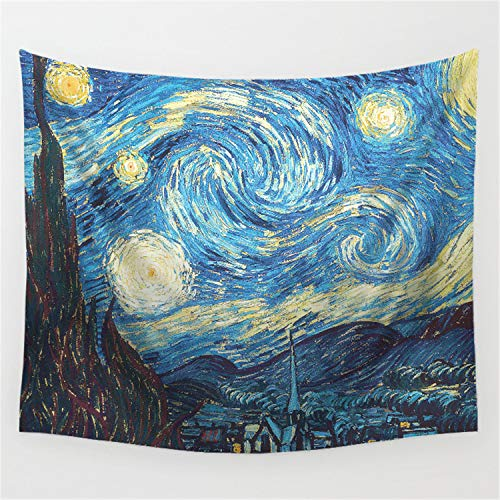 JUNDY Multi-Colored Mandala Tapestry Wall Hanging, Bedsheet, Coverlet Picnic Beach Sheet, Hippie Wall Tapestry Tapiz Alfombra de Pared Starry World 14 150 * 200cm