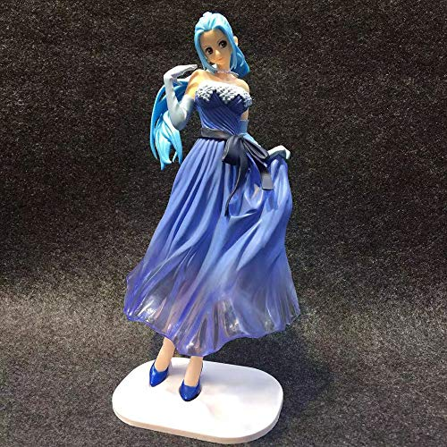 KPSHY Ein Stück Anime Flash Brautkleid Wei Wei Weiß/Blau Kleidung Figur Puppe Dekoration Statue Geburtstagsgeschenk Puppe Skulptur Spielzeug Puppe Höhe 22cm