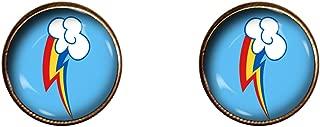 Rainbow Dash Earrings 10mm Friendship is Magic My Little Pony Handmade Jewelry Gift Charm