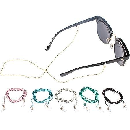 Ideal f/ür Brillen Metall Brillenkette Brillenband Brillenschnur Ketten B/ügel Halter Lesebrillen Sonnenbrillen