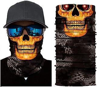 قناع جمجمة نصف وجه دافئ دراجة نارية وشاح مضاد للرياح قناع الوجه اكسسوارات التخييم للرجال