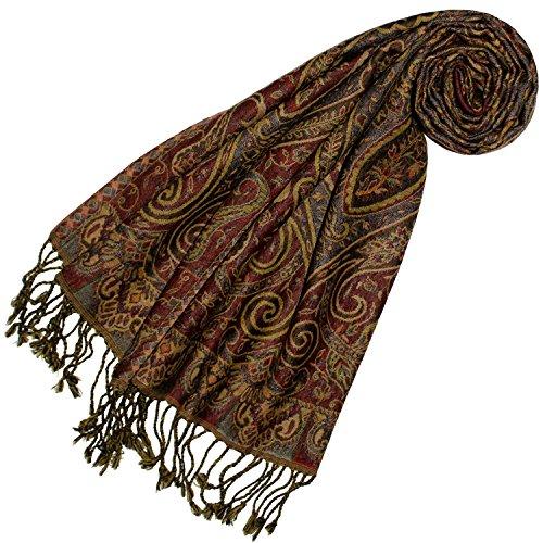 Lorenzo Cana - Damen Schal aus weicher Wolle aufwändiges Paisley Muster bunt mehrfarbig 35 cm x 160 cm Wollschal Wolltuch Frauenschal Mädchenschal 78405