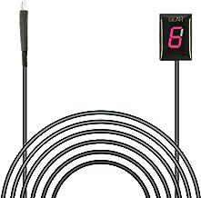 IDEA para Kawasaki Plug & Play Indicador de engranaje de motocicleta a prueba de agua Pantalla LED Alambre Parte trasera Outle (Rojo-I/Modelo 2010-2017)