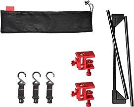 Multifunctionele kleerhanger voor camping, outdoor, picknick, camping, outdoor, licht, opvouwbaar, van aluminiumlegering e...