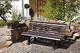 gartenmoebel-einkauf Gartenbank 3-sitzer Kunststoff braun - 2