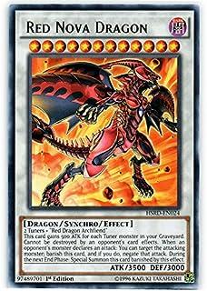 YU-GI-OH! - Red Nova Dragon (HSRD-EN024) - High-Speed Riders - 1st Edition - Rare