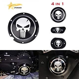 4 in 1 Skull Engine Derby Timer Cover For Harley Sportster Iron XL 883 1200 48 72 Brake Cylinder Cover Chain Inspection Cover ✔