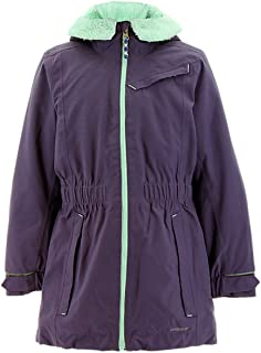 Outdoor Girls Adidas Girls' Ash Purple Climaproof Storm Parka, S, Purple