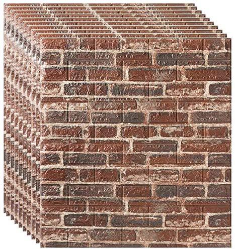 KUNYI Self Adhesive Wallpaper, 3D-Stereo-Wandaufkleber Schlafzimmer Hot Foam Brick wasserdichte Tapete Feuchtigkeitsfest Hintergrund-Wand-Dekor-Aufkleber (Size : 25 Piece)