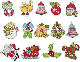christmas themed buttons