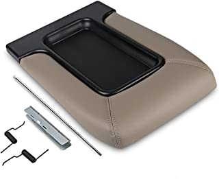 VANJING 19127366 Center Console Lid Replacement Cover Armrest Kit Compatible for Chevrolet Cadillac GMC Pickup Truck Suburban Tahoe Silverado GMC Sierra Yukon XL(Tan)