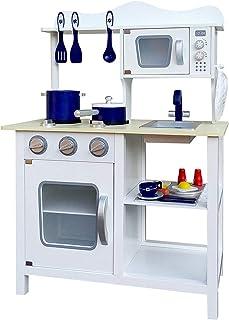 Keezi 18 Piece Kids Kitchen Play Set - White