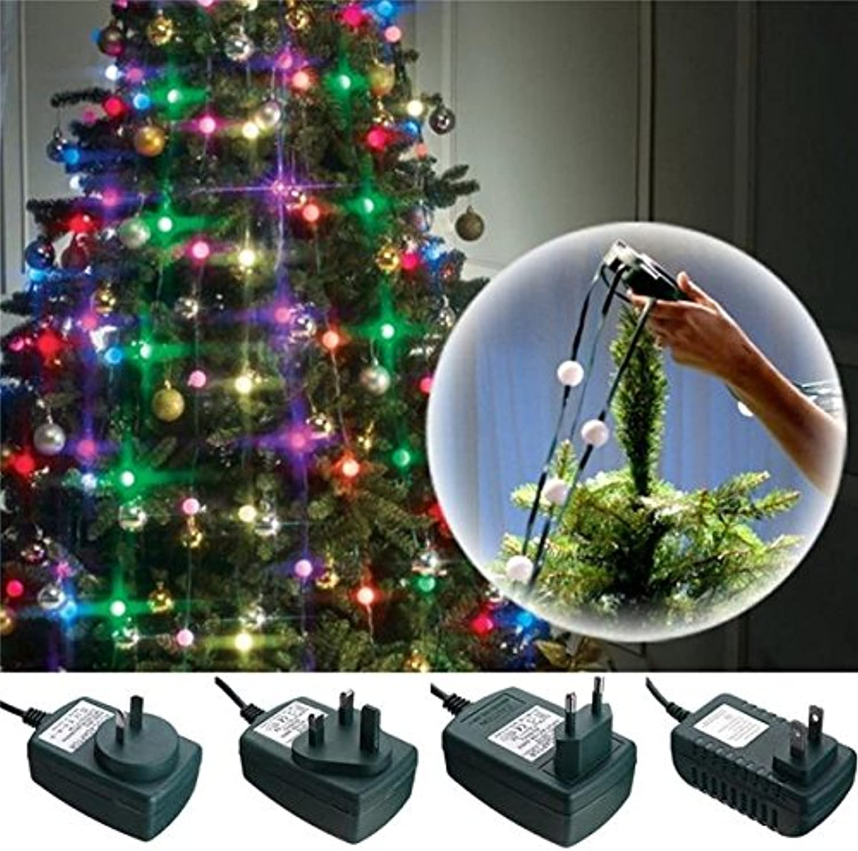 Bazaar Bunte 64 LEDs 3 Modi Weihnachtsbaum Fiber Optische Nacht Glühbirne für Party AC110-240V
