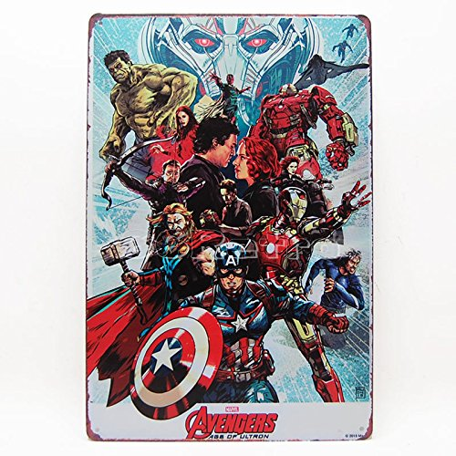 The Avengers: Age of Ultron (0401012), Metall blechschild, Wall Dekorative Zeichen von 66retro