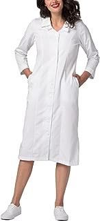 Adar Universal Double Embroidered Collar Scrub Dress