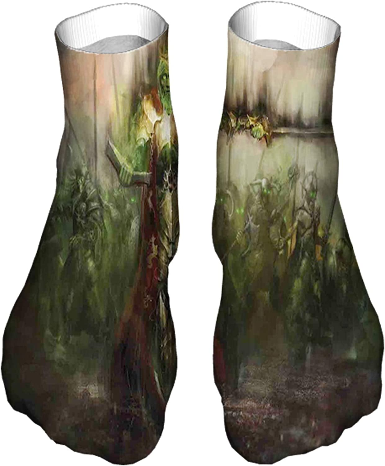 Men's and Women's Funny Casual Socks Death King Leading Against Demons and Ghosts Revenge