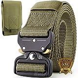 Cintura Militare, Cintura Regolabile Tattica di Sicurezza Cintura con Fibbia Cobra Cintura...