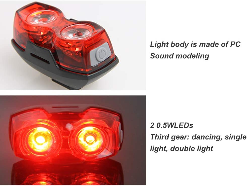 LED Feu Arriere pour Velo Rouge et Bleu Lampe D/'Urgence Multifonctionnel Ultr V2