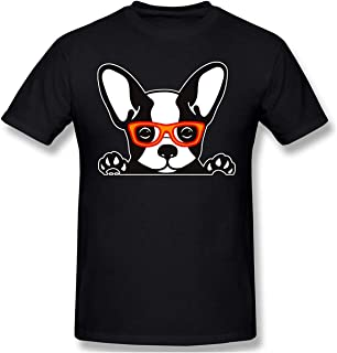 Camiseta Linda de Bulldog francés para Hombre, Camiseta 100% algodón