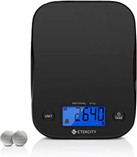 Etekcity Food Scale Digital Kitchen Weight Grams and Ounces for Baking and Cooking, 1g Division, Black