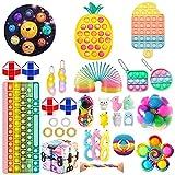 Mubineo Juguete Fidget Toy, Paquete de Juguetes Fidget Toy Set, Juego de Juguetes Fidget Pop con Hoyuelos, Juguete Fidget Sensorial, Juego de Juguetes Fidget para Niños y Adultos(Fidget Toy-3)