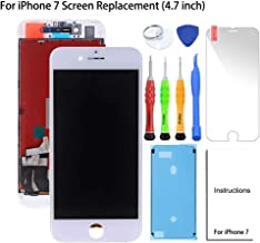 Screen Replacement for iPhone 7 LCD White 4.7 Inch Display Touch Screen Digitizer Replacement Kit