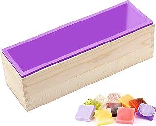 moule en silicone savon,moule en silicone rectangle,moule en silicone avec boîte en bois,moulessilicone cake,diy moule sav...
