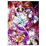 Tainsi Zhenzhiao Anime No Game Life Poster-11 x 17 pulgadas, 28 x 43 cm