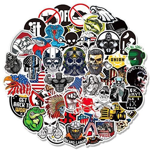 LSPLSP / Paquete de Pegatinas de Graffiti de Advertencia de Seguridad para portátil, monopatín, Equipaje, Coche, Calavera, calcomanía, Juguete, 100 Uds.
