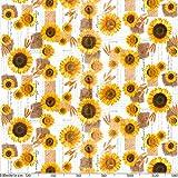 ANRO Tischdecke Wachstischdecke Wachstuch Wachstuchtischdecke Sonnenblumen Sommer Weizen Gelb 180 x 140cm - 3