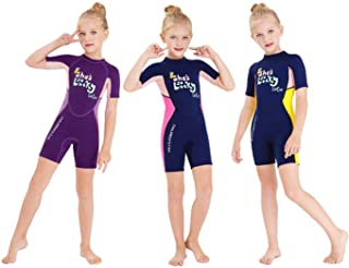 DIVE & SAIL Kids Wetsuit,Thermal Full Wetsuit 2.5mm Neoprene One Piece Long Sleeve Wet Suits Full Swimsuit for Girls Boys ...