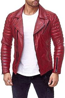 Chaqueta chaleco cazadora abrigo largo corto rojo roja hombre caballero plumas oca ganso invierno otoño verano primavera cuero americana todo de rojo