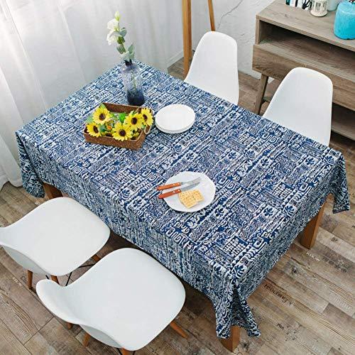 JLYZB Mediterrane Bar Café Retro Zuidoost-Aziatische Nationale Wind Tafelkleed Katoen Hennep Koffie Tafelkleed Gabe-i 140x250cm (55x98inch)
