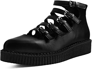 Black TUKskin' Multi Straped POINTEDMARY Jane Ballet Creeper
