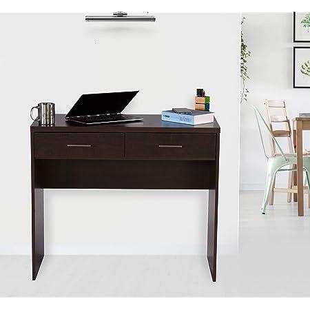 Deckup Bei Engineered Wood Study Table and Office Desk (Dark Wenge, Matte Finish)