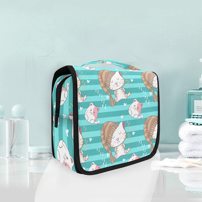 回想花弁期待してかわいい猫子猫ハンギング折りたたみトイレタリー化粧品袋メイク旅行オーガナイザーバッグケース用女性女の子浴室