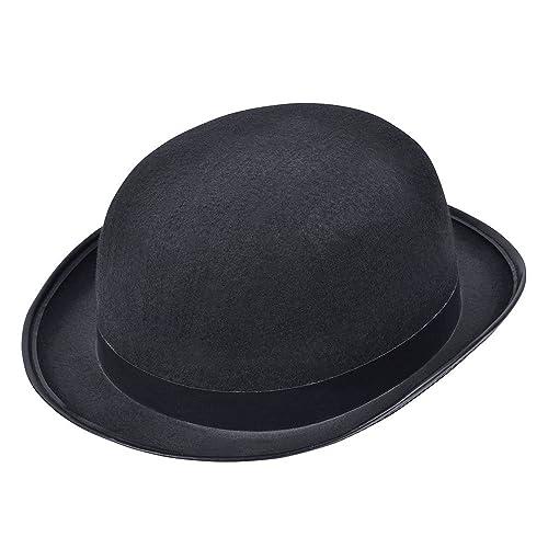 Bristol Novelty BH173 Bowler Hat Black, Unisex-Adult, Multicolor, One Size