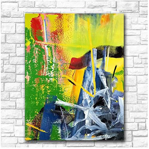 Drucke Wandkunst Gerhard Richter Korn Gemälde Wohnzimmer Wohnkultur Gemälde auf Leinwand Wandmalerei-60x70cm No Frame