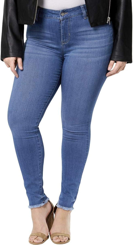 Celebrity Pink Womens Plus Denim Medium Wash Skinny Jeans bluee 20