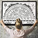 Family Tree Chart to Fill in 6 Generation Genealogy, to Fill in Blank Fillable Ancestry Chart, for Family Member Gifts The Material is Canvas Cloth 40X60cm