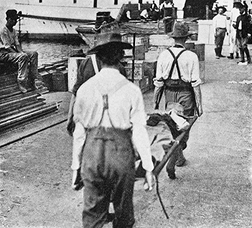 New York Camp Wikoff 1899 Na Sick Soldier Being Carried On A Stretcher At Camp Wikoff At Montauk Point Long Island New York Where Soldiers Returning From The Spanish-American War Were Quarantined Phot