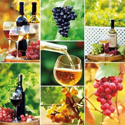20 Servietten Kostbarkeit von Wein als Tischdeko für Liebhaber von Getränke 33x33cm