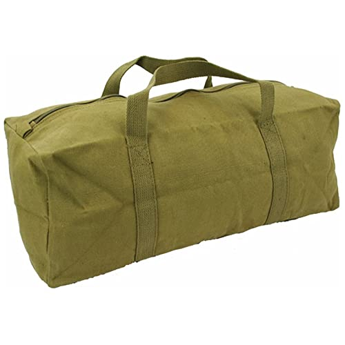 Mens Equipment Heavy Duty Canvas Tool Bag Travel Canvas Pack Surplus Bag  Green Army Military Combat 6dfe3b8484cab